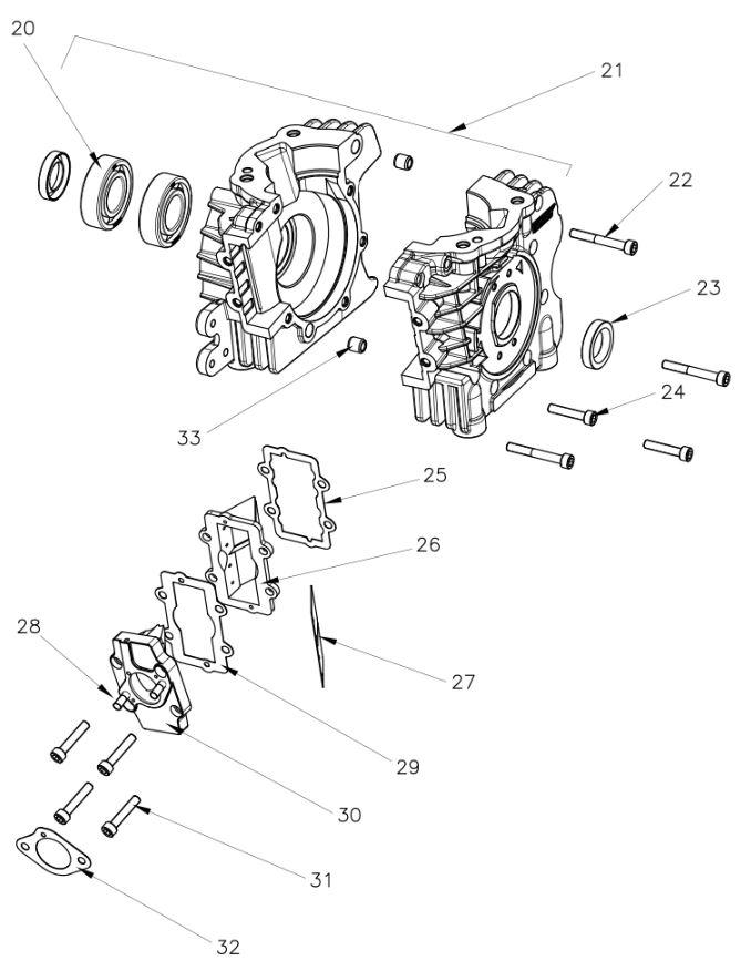 Vortex Rok VLR Engine Parts :: 2-Cycle Engine Parts