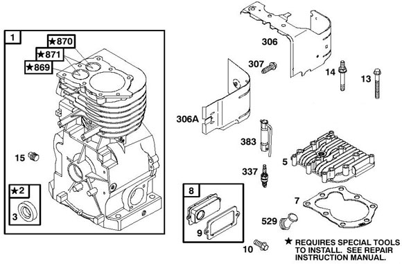 Briggs Raptor Engine Parts, Flat Head :: Briggs Engine