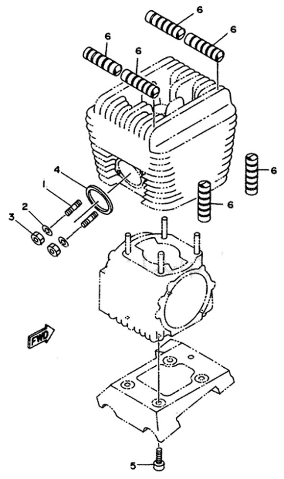 Yamaha KT100 Engine Parts :: 2-Cycle Engine Parts