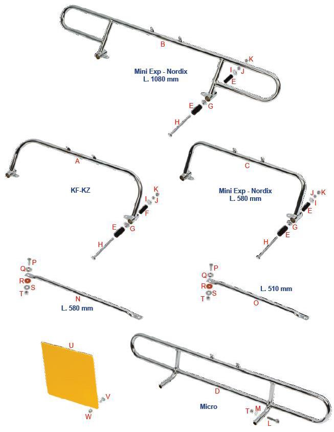 OTK Tony Kart Rear Metal Bumper :: OTK/Tony Kart Parts