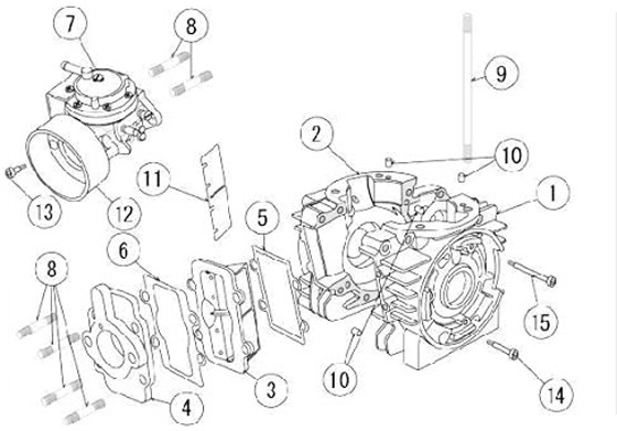 125cc Chopper Engine Diagram. Wiring. Wiring Diagrams