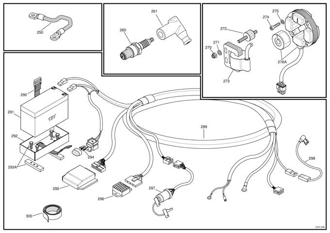 (299) X30125935-DC X30 Wiring Harness, Purple Pigtail