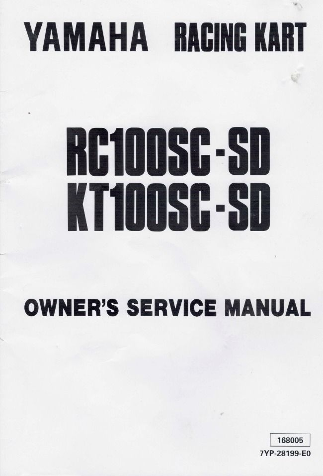Yamaha Racing Kart Owner's Service Manual :: Karting Books