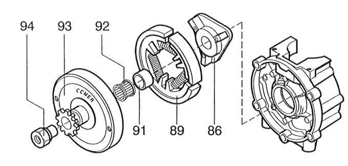 94. C-51 Clutch Nut :: C-51 Clutch Parts :: Comer C-51
