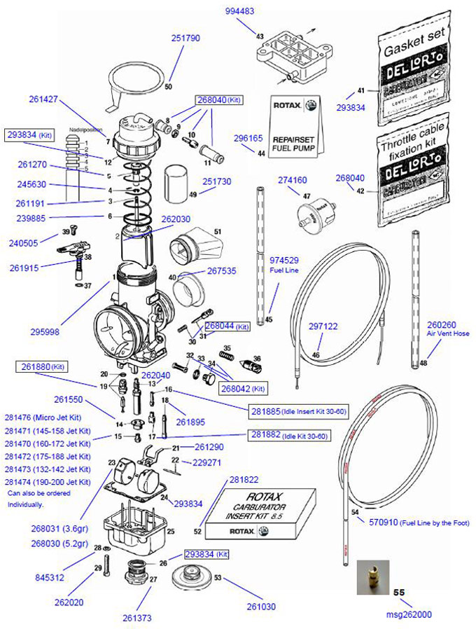 Go Kart Throttle Linkage Diagram : throttle, linkage, diagram, 8-11., 268040, Rotax, Throttle, Cable, Fixation, Carburetor, Parts, Engine...