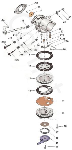 12. HL334 Tillotson Flange Gasket 16B-216 :: HL Carb Parts