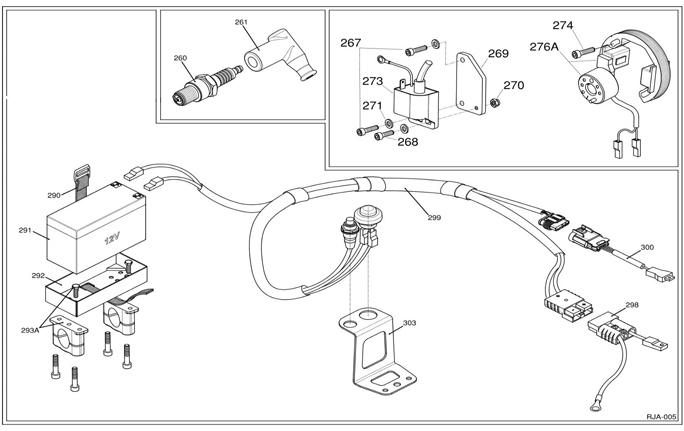(299) IFE-05003A IAME KA100 Wiring Harness :: IAME KA100