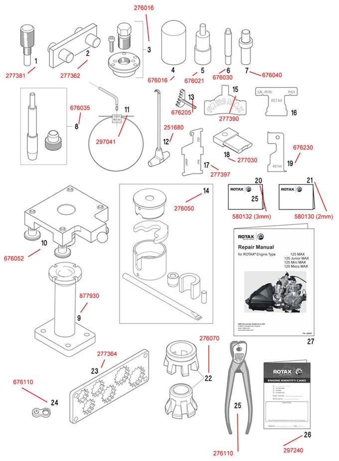 1. 277381 Rotax Fixation Tool for Crankshaft :: Rotax