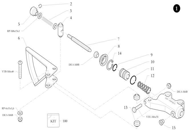 8. 20.4887.20 Birel Master Cylinder Dust Boot :: Birel