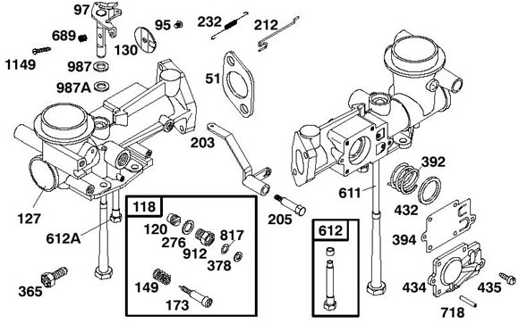 397135 Briggs Flat Head Choke Style Carburetor :: Briggs
