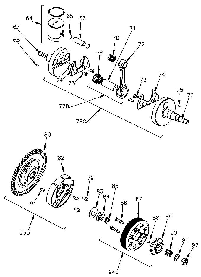 80. W1753/MR Mini Rok Starter Ring Gear :: Mini Rok Crank