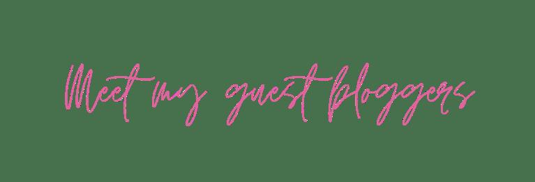Meet my guest bloggerd