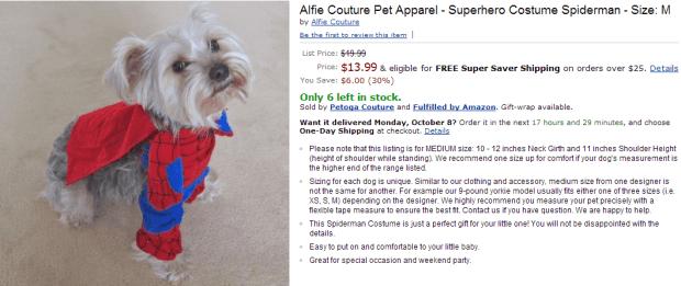 Fashion Friday: Dog Halloween Costumes