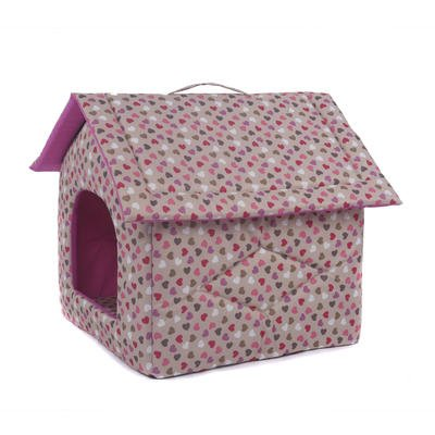 Portable Dog House - My Favorite Pet Shop - Hearts