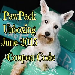 PawPack Unboxing June 2015 + Coupon Code