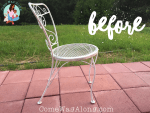 before metal patio chair