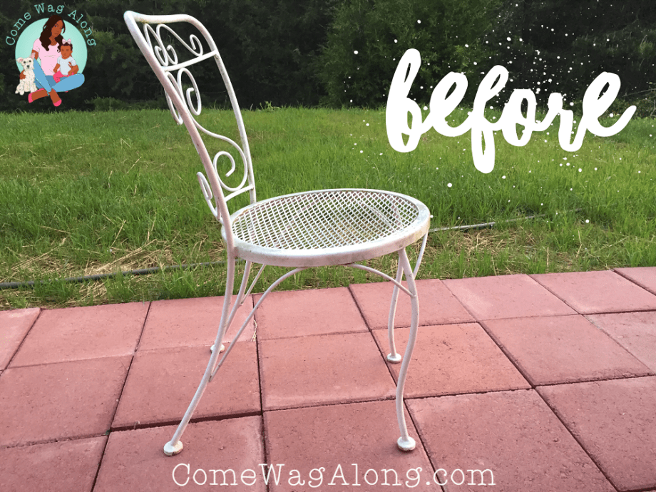 DIY: Painted Outdoor Patio Furniture