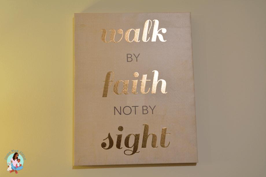 walk by faith not by sight canvas art