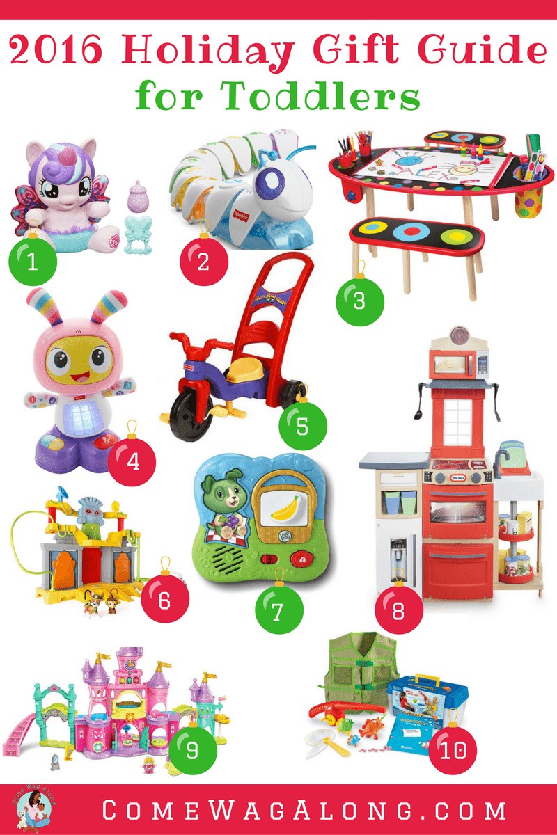 Holiday Gift Guide for Toddlers - ComeWagAlong.com