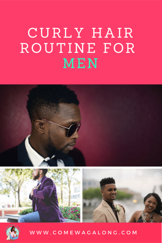 Curly Hair Routine for Men - ComeWagAlong.com #CurlyHairRoutine