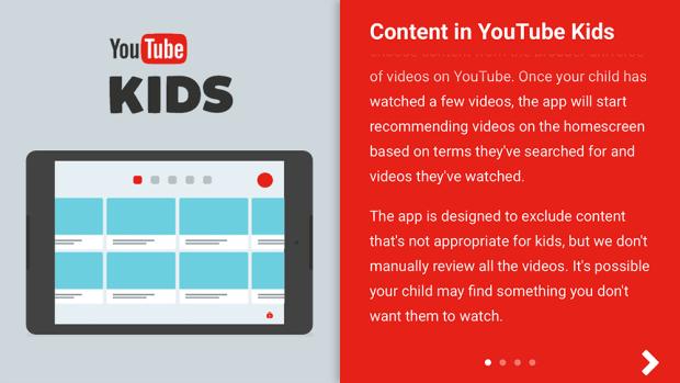 Content in YouTube Kids App