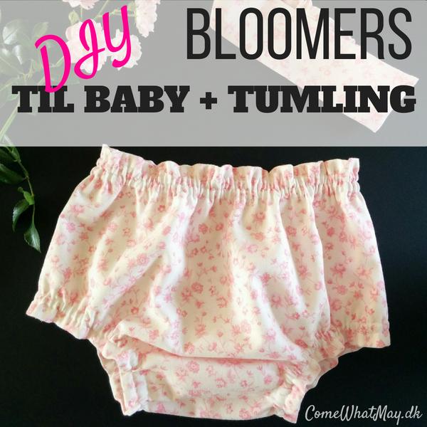 DIY bloomers til baby eller tumling med matchende hårbånd | mønster | sy