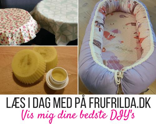 Du kan på FruFrilda.dk læse et interview med mig, hvor jeg fortæller om mine bedste DIY's
