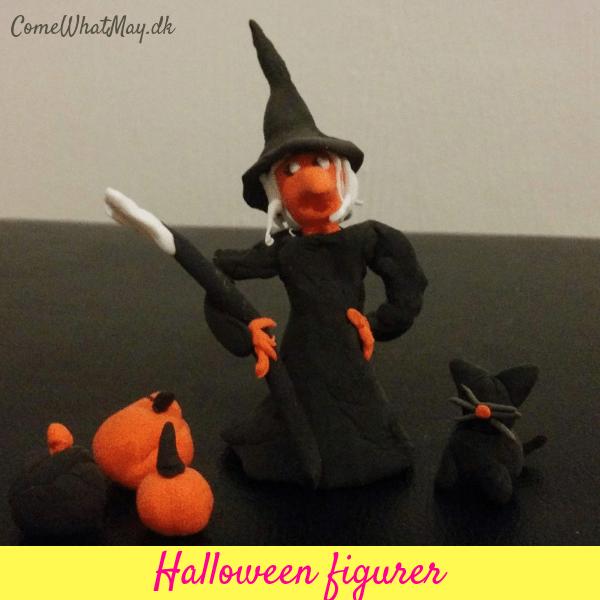 Halloween figurer i silkclay | DIY | cchobby | heks | græskar | kat | halloweenpynt