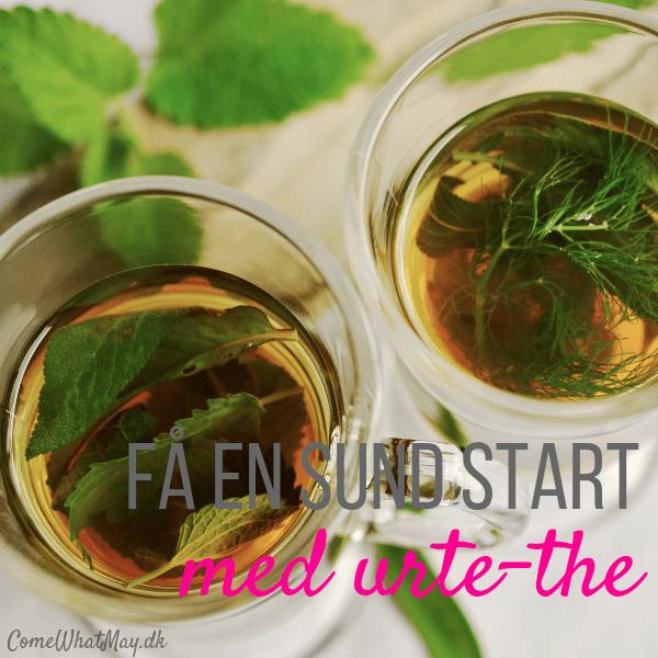 Få en sund start på året med sunde drikkevarer som vand, friske juier og urte the