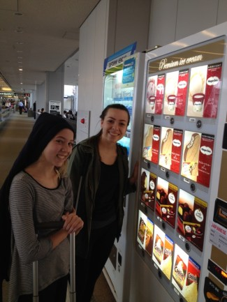 I was on a mission to use one of the Japanese vending machines and whats better than ice cream right?