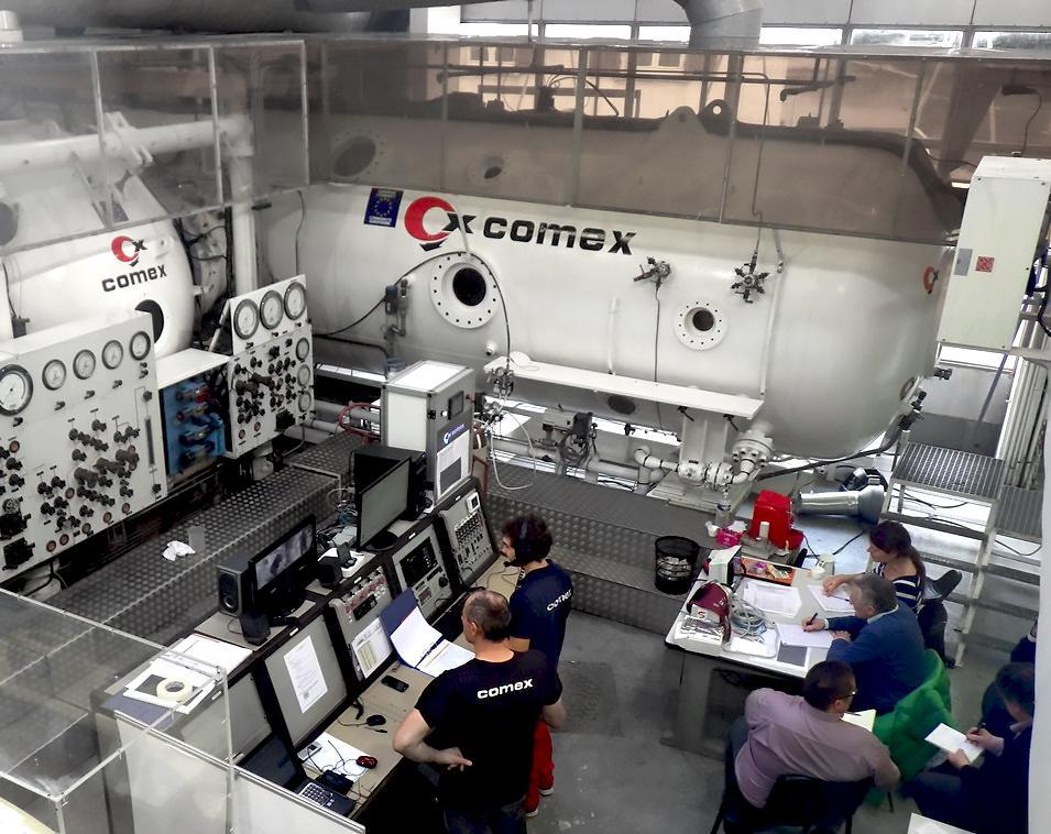 Chambre hypoxique, Comex, caisson hypobare, simulateur de vol, hypobare, hypobarie, chambre d'altitude