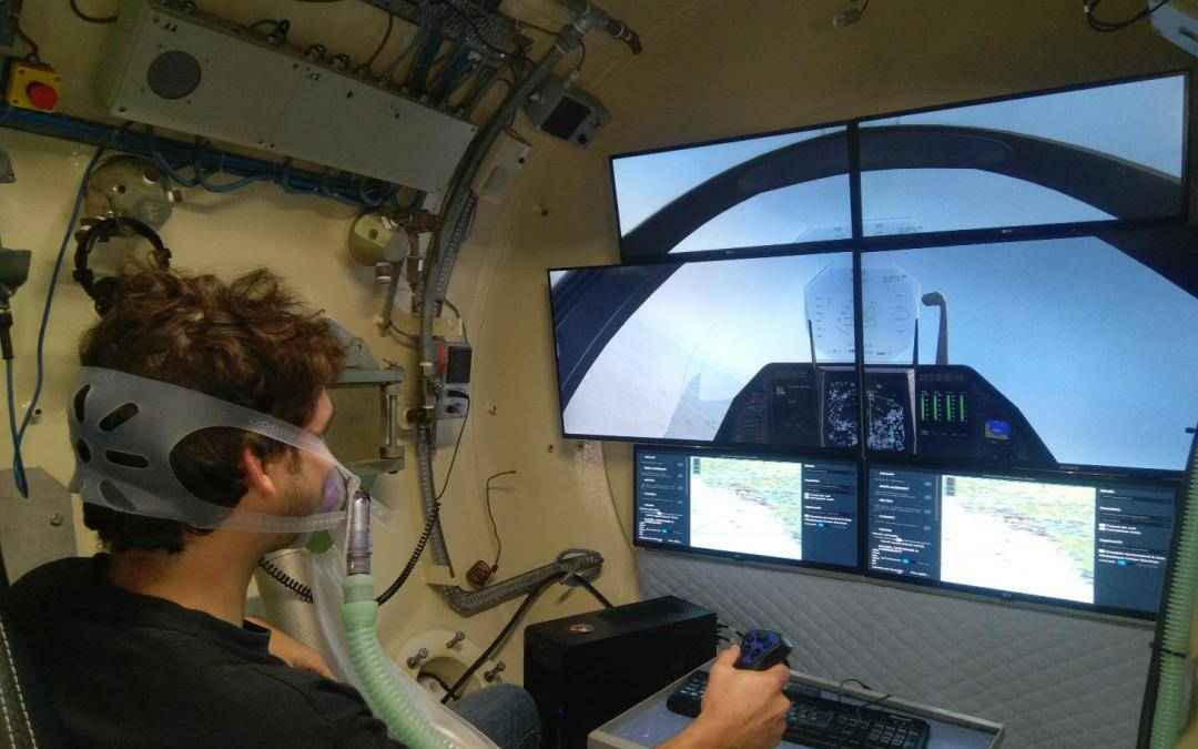 The COMEX Hypobaric Test Center has just been equipped with a new flight simulator