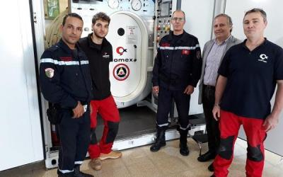 Deployable compression chamber: COMEX equips the Algerian State