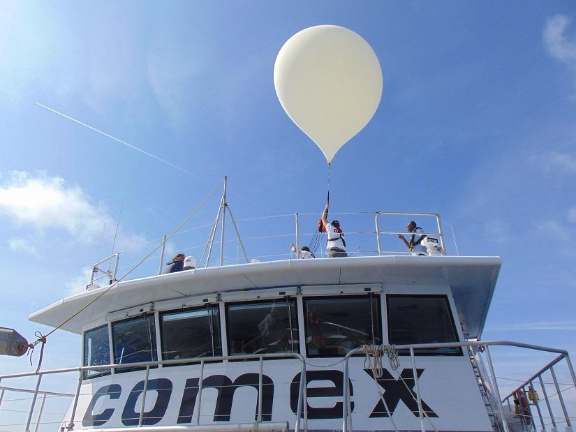 « Lâché » de ballons à la COMEX !