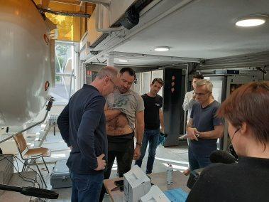 Frédéric Swierczynski au centre hypobare COMEX