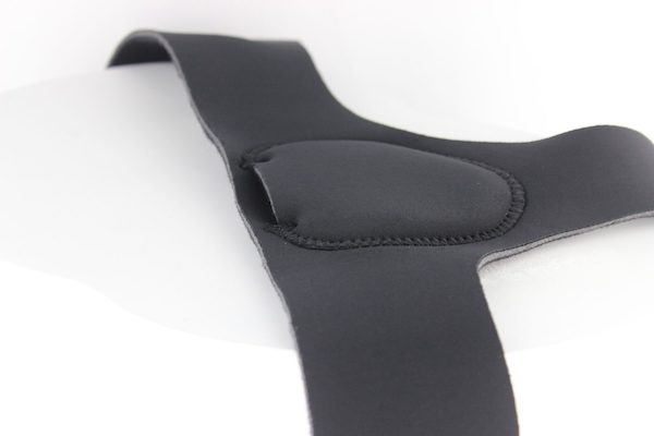 Showing the inside of the hernia belt and the minimalist design