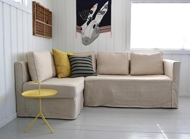 ikea chair covers karlstad gold dining fagelbo loose fit chaise right sofa cover - comfort works custom slipcovers