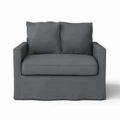 Ikea Couch Sofa Sectional Manstad Small Rounded Corner Replacement Harnosand 1 Seater Chair Cover / Armchair ...