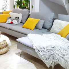 Ikea Sectional Sofa Covers Ivory Luxe Slipcover Replacement Söderhamn / Couch ...