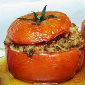 Super hearty Italian Stuffed Tomato recipe.