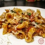 Pasta with Sausage, Mushrooms and Tomatoes