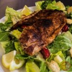 Homemade Caesar Salad with Blackened Tilapia
