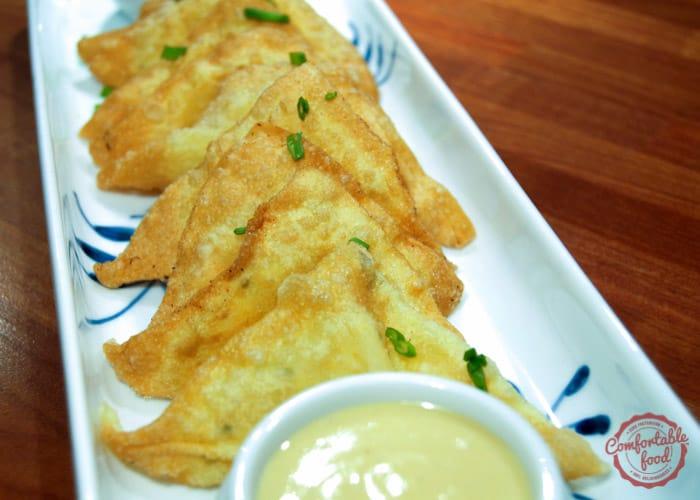 Quick and easy homemade Crab Rangoon recipe.