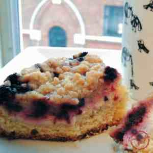 This Blackberry Cream Cheese Coffee Cake is moist and sweet and delicious.