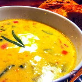 Spicy, Delicious Corn Soup - with Video