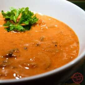 A Recipe for How to Make Mushroom Soup.