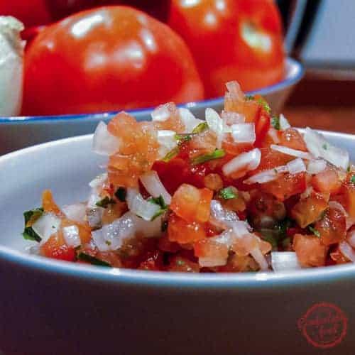 Super simple, delicious Salsa Fresca.