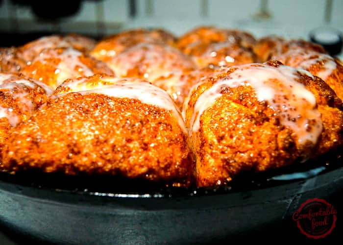 Sweet and Sticky Skillet Monkey Bread from Comfortable Food