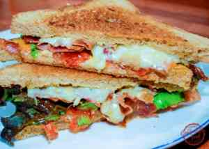 A perfect blend of a classic BLT and grilled cheese sandwich.