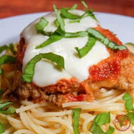 Easy to make Baked Chicken Parmesan recipe.